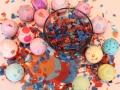 cascarones easter eggs with confetti